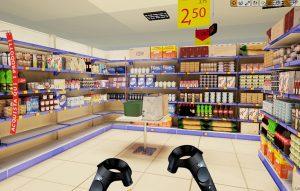 Render di un interno market Sopsi VR | Corso Virtual Reality
